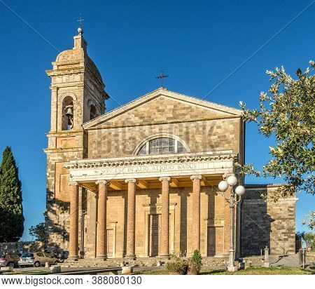View At The Cathedral Of Holy Savior In Montalcino - Italy