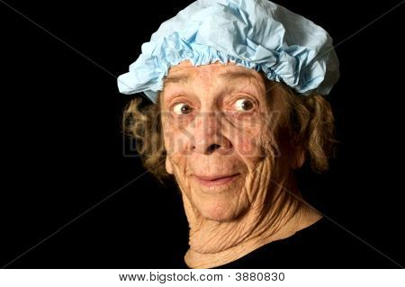 Expressive Old Woman