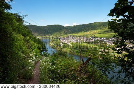 Panoramic Image Of The Moselle Village Ellenz-poltersdorf, Moselle, Germany