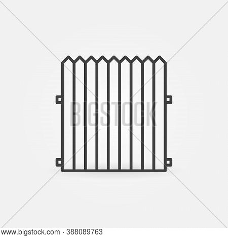 Wooden Palisade Fence Linear Vector Concept Icon Or Logo Element