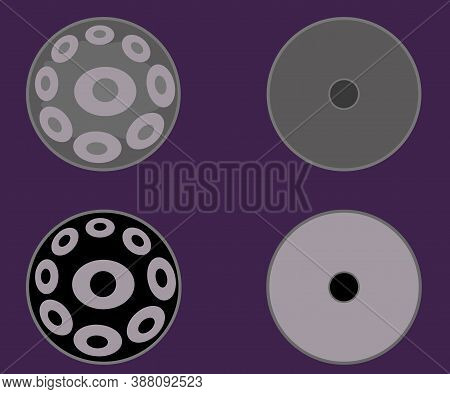 Hand Drum On A White Background. Musical Instrument. Vector Illustration.