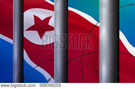 Background Prison, Jail In Dprk. Oppressive, Repressive Penal System Of Detention, Imprisonment Behi