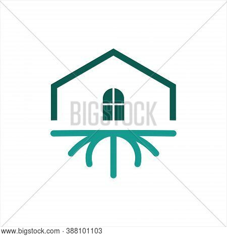 House Root Logo Wooden Estate Vector Simple Modern Template Idea Best For Business And Nature Proper