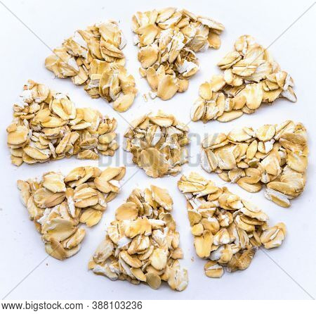 Oatmeal Grits, Oatmeal Snowflake, Oatmeal Flower, Oatmeal On A White Background