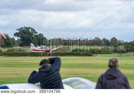 Old Warden, Bedfordshire, Uk , October 6, 2019. Scottish Aviation Bulldog Series 120. Race Day At Sh