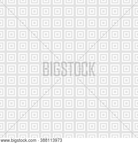 Subtle Squares Seamless Pattern. Classic Abstract Geometric Texture With Small Linear Square Shapes