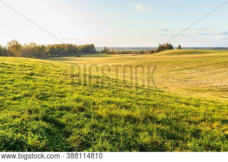 Hilly Landscape Field Agriculture Nature Farmland Country View Springtime