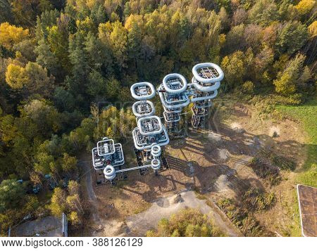 Tesla High-voltage Towers In The Istra City, Russia
