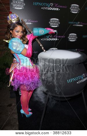 LOS ANGELES - OCT 26:  Christina Milian at the HPNOTIQ Liqueur Launch at Beacher's Madhouse on October 26, 2012 in Los Angeles, CA
