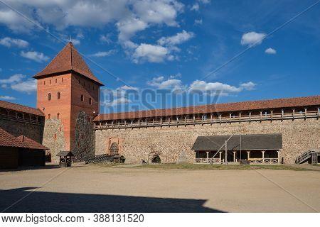 Belorussian Tourist Landmark Attraction - Lida Castle, Grodno Region, Belarus.