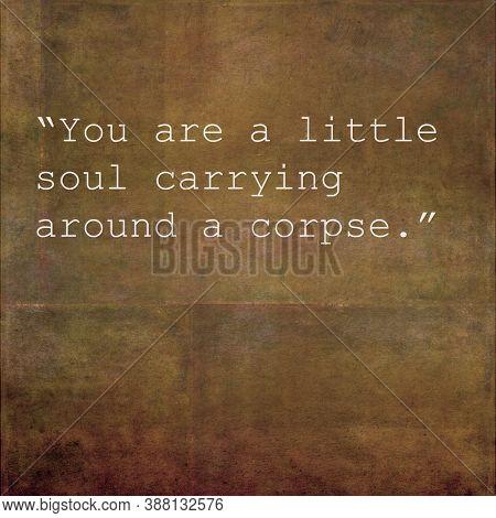 Inspirational quote against original textured background image