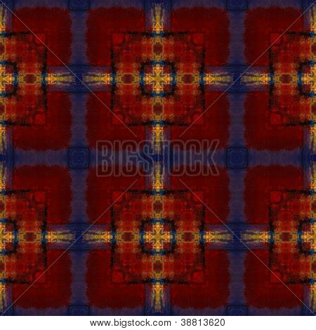 art eastern national traditional pattern in red