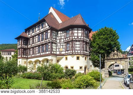 Castle Residence (residenzschloss) Or Residential Palace In Bad Urach, Germany. This Beautiful House