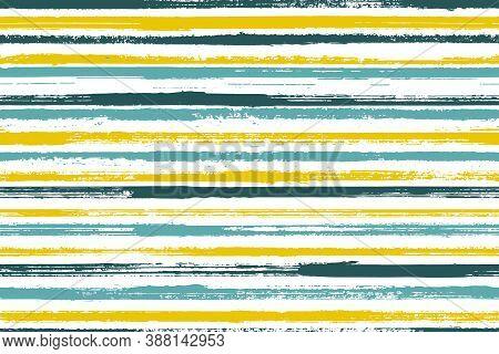 Ink Brush Stroke Parallel Lines Vector Seamless Pattern. Modern Bedding Textile Print Design. Old St