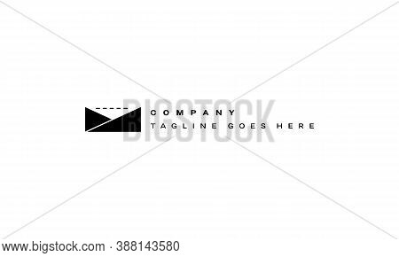Vector Logo On Which An Abstract Image Of A Videotape In An Envelope.