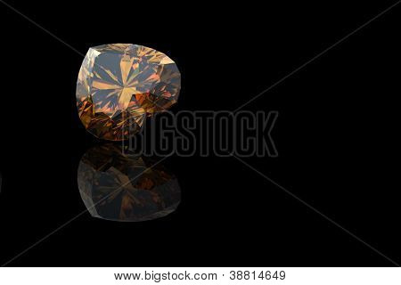 Heart shape Citrine. Collections of jewelry gems on white poster