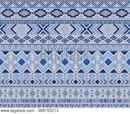 Navajo American Indian Pattern Tribal Ethnic Motifs Geometric Vector Background. Cool Native America