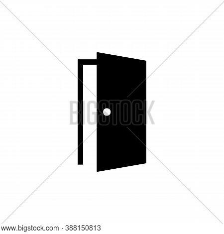 Open Door. Icon Door. Symbol Of The Open Door For Your Website Design, Logo. Vector Eps 10. Isolated