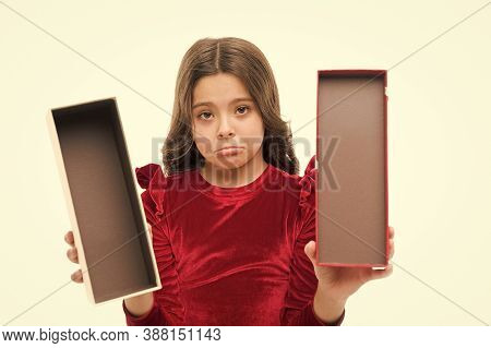 Nothing Here. Something Went Wrong. Kid Birthday Gift. Feeling Sad Bad Gift. Present Box. Kid Girl D