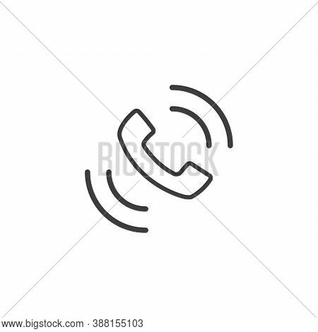 Smartphone Mobile Phone Ringing Or Vibrating Flat Vector Icon For Apps And Websites. Stock Vector Il