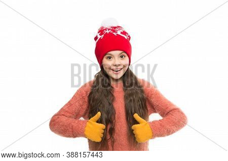 Perfect Look For Cold Weather. Last Trends For This Winter. Happy Kid Wear Knitwear. I Love Knitting