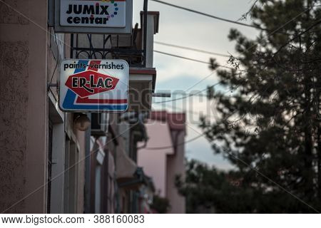 Belgrade, Serbia - February 2, 2020: Er Lac Logo In Front Of Their Retailer In Belgrade. Erlac Is A