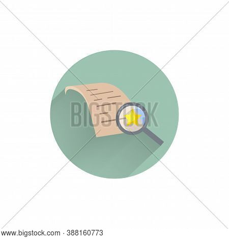 Assessment Flat Icon. Auditing Colorful Flat Icon With Long Shadow. Auditing Flat Icon