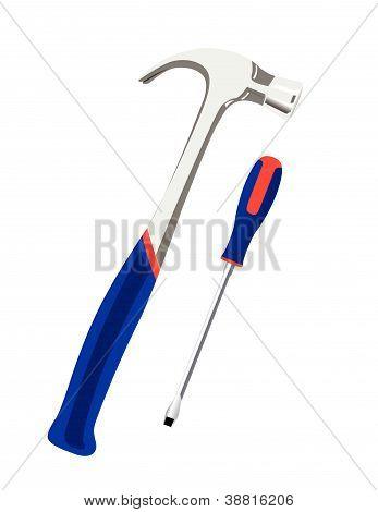 Vector illustration of tools