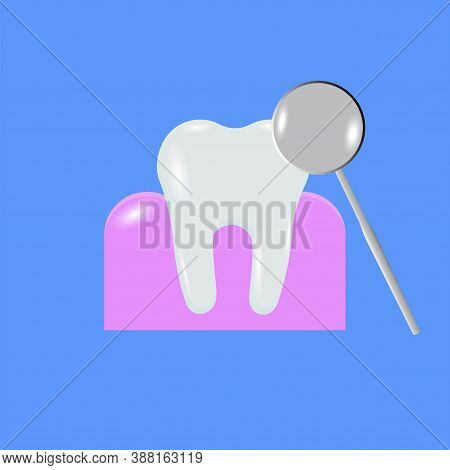 Tooth Magnifier, Great Design For Any Purposes. Health Care. Linear Tooth Magnifier For Tissue Desig
