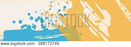 Design Template. Design Element. Summer Background. Abstract Grunge Banner Texture. Brush Background