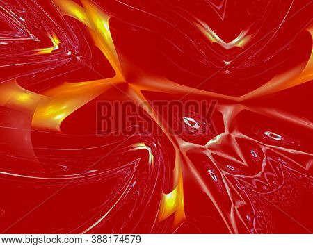 Elegant energy, Creative background with powerful and bright abstract sun, waves and sinuous shapes, decorative image for advertising or designs