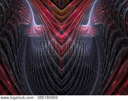 Alien, design display with fractals, creative background plant leaves, waves and sinuous shapes, decorative image for advertising or designs