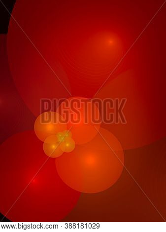 Bubbles, design display with fractals, creative background plant leaves, waves and sinuous shapes, decorative image for advertising or designs