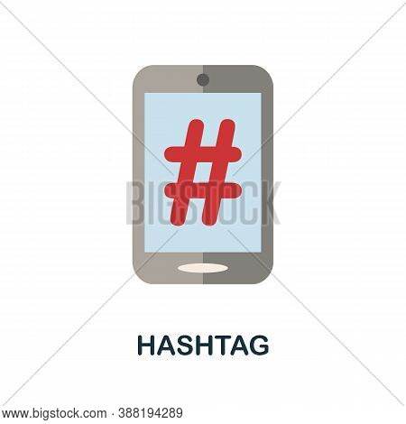 Hashtag Icon. Simple Element From Blogging Collection. Creative Hashtag Icon For Web Design, Templat