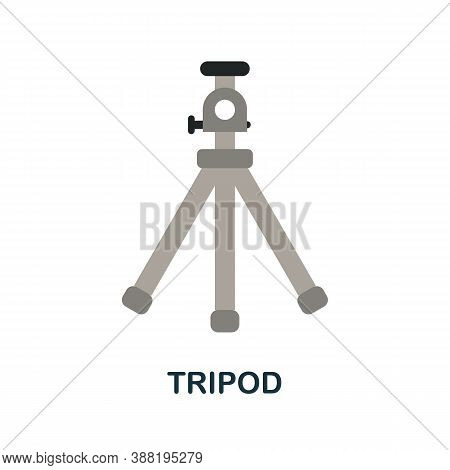 Tripod Icon. Simple Element From Blogging Collection. Creative Tripod Icon For Web Design, Templates