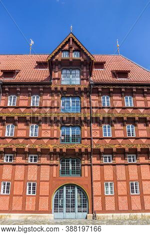 Facade Of The Historic Alte Waage Building In Braunschweig, Germany