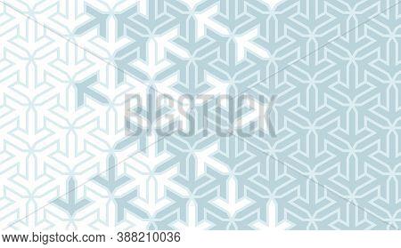 Muslim Blue Vector Geometric Pattern. Geometric Halftone Texture With Color Tile Disintegration.