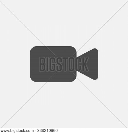 Video Call Icon, Online Chat Button Isolated On White Background. Vector Illustration.
