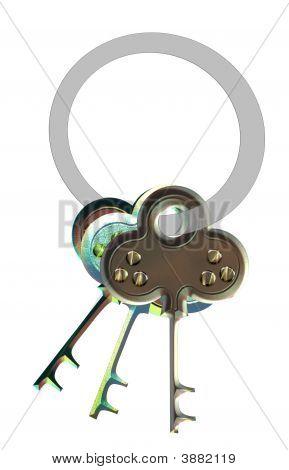 Keys Over White