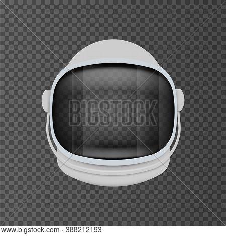 Astronaut Helmet Equipment Isolated On Transparent Background. Vector Illustration.