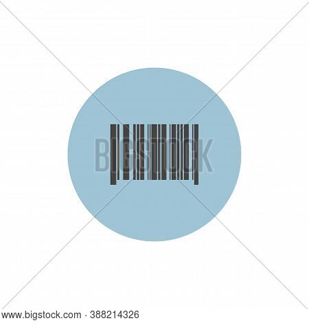 Barcode Colorful Flat Icon With Long Shadow. Barcode Flat Icon