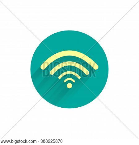Wi-fi Colorful Flat Icon With Long Shadow. Wi-fi Sign Flat Icon