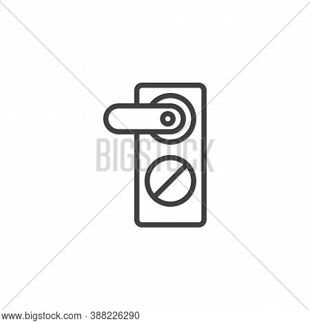 Door Handle Line Icon. Linear Style Sign For Mobile Concept And Web Design. Door Knob Outline Vector
