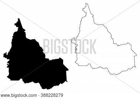 Samburu County (republic Of Kenya, Rift Valley Province) Map Vector Illustration, Scribble Sketch Sa