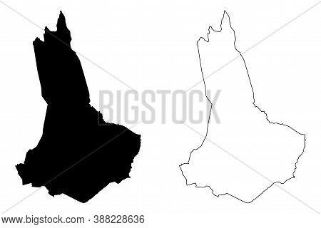 West Pokot County (republic Of Kenya, Rift Valley Province) Map Vector Illustration, Scribble Sketch