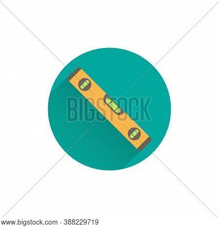 Plumb Rule Colorful Flat Icon With Long Shadow. Plumb Rule Tool Flat Icon
