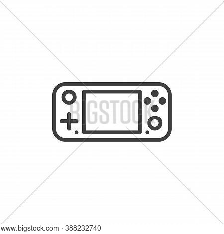 Gamepad Console Line Icon. Linear Style Sign For Mobile Concept And Web Design. Handheld Gamepad Out