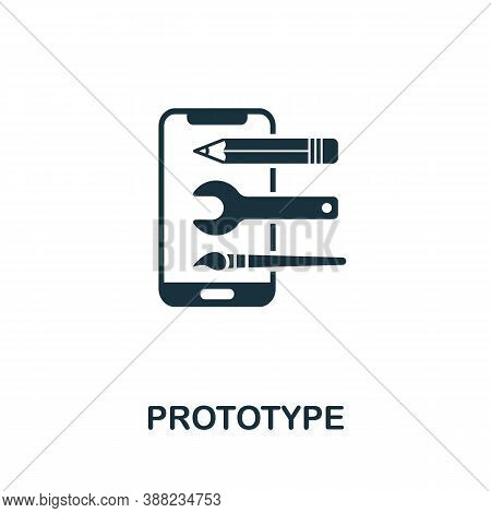 Prototype Icon. Simple Element From App Development Collection. Filled Prototype Icon For Templates,