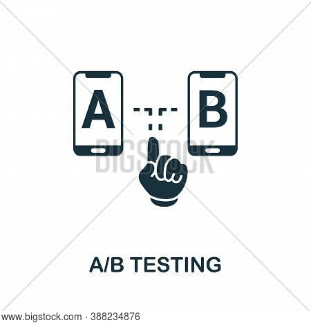 A B Testing Icon. Simple Element From App Development Collection. Filled A B Testing Icon For Templa