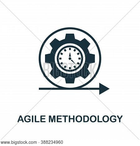 Agile Methodology Icon. Simple Element From App Development Collection. Filled Agile Methodology Ico